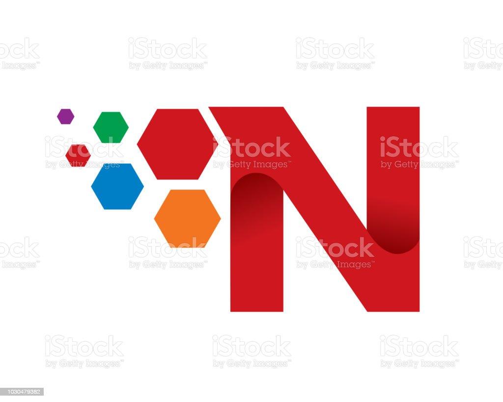 letter n template design vector emblem concept design creative symbol icon royalty