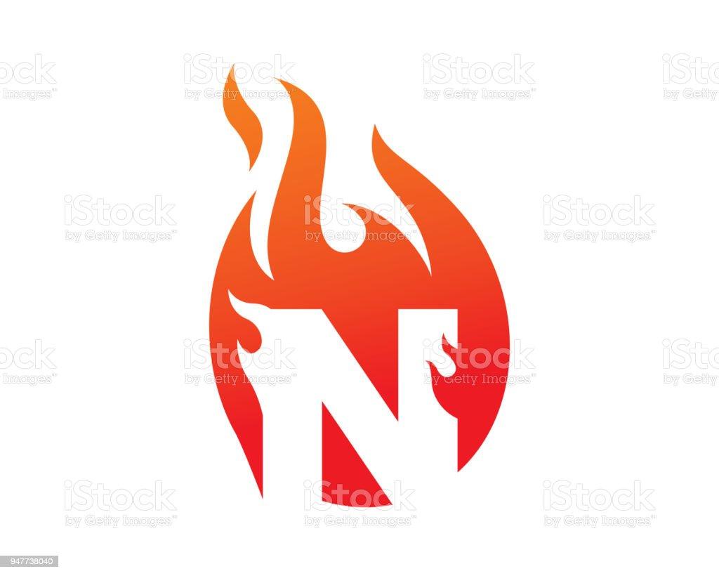 Letter N Template Design Vector Emblem Design Concept Creative
