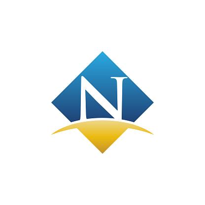 Initial N Letter Vector Stock Illustration Logo Template. Vector eps 10.