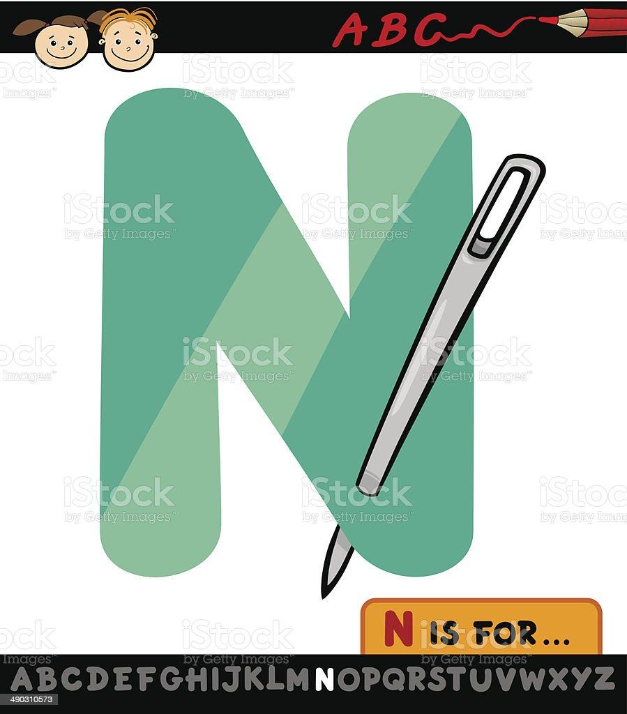 レター N ニードルカットイラストイラストレーション アルファベットの