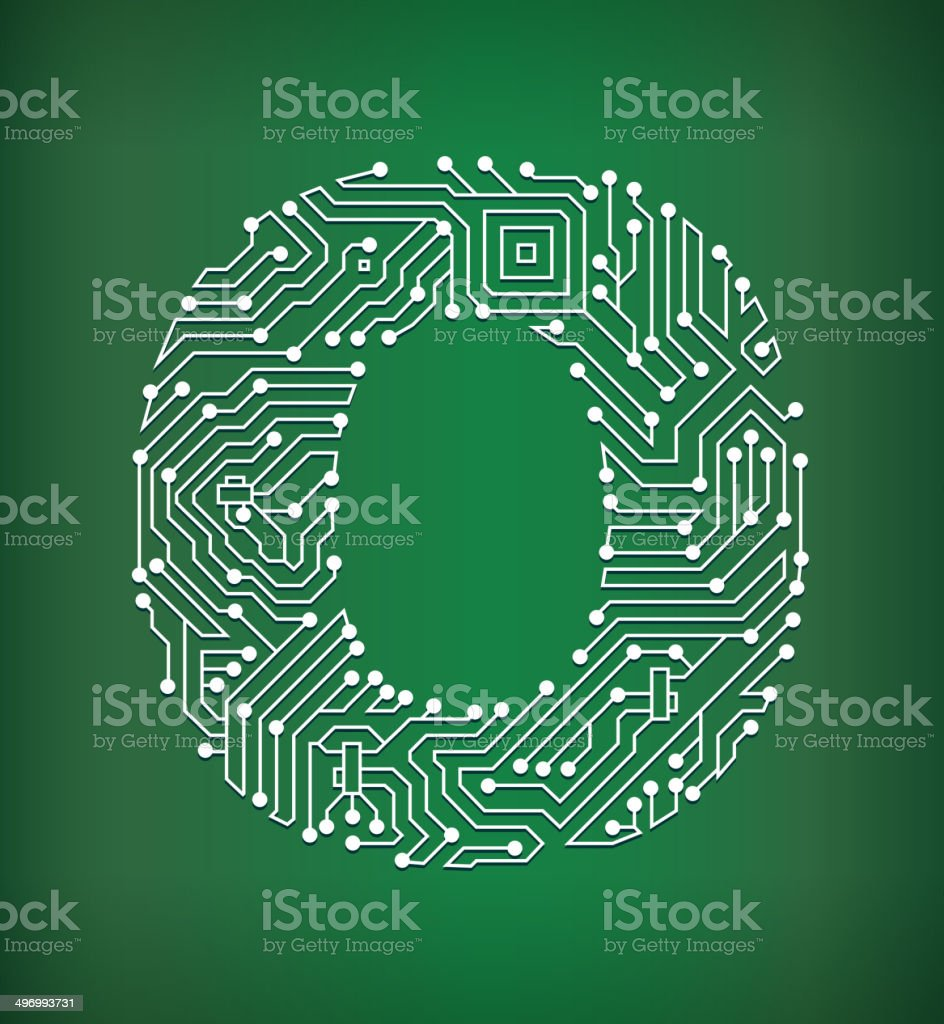 Letter O Circuit Board royalty free vector art background royalty-free letter o circuit board royalty free vector art background stock vector art & more images of alphabet