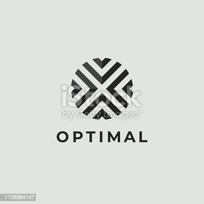 istock Letter O Logo Icon Design Template. Technology Abstract Line Connection Circle Vector Logotype 1125584147