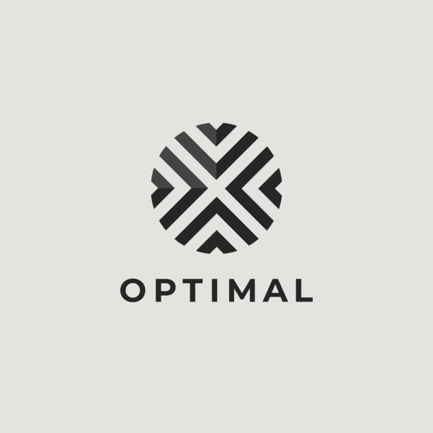 letter o logo icon design template. technology abstract line connection circle vector logotype - crossing stock illustrations