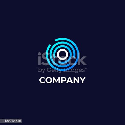 istock Letter O Logotype Icon Design Template. Technology Abstract Line Connection Circle Vector Emblem 1132764846