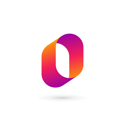Letter O or number 0  icon