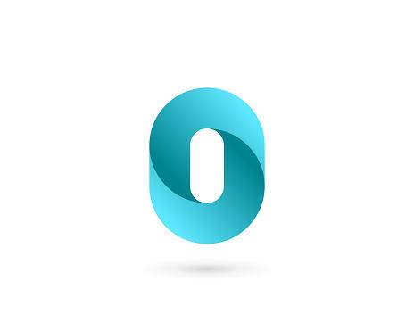 Letter O or number 0 logo icon design