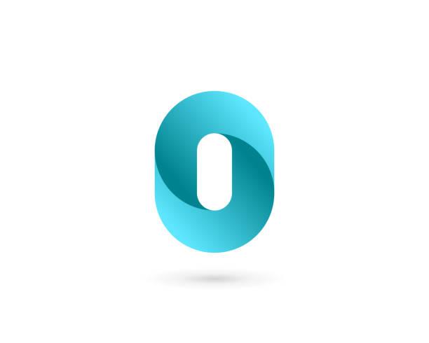 Letter O or number 0 logo icon design Letter O or number 0 logo icon design zero stock illustrations