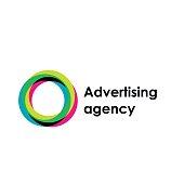 Letter O vector emblem. Advertising agency
