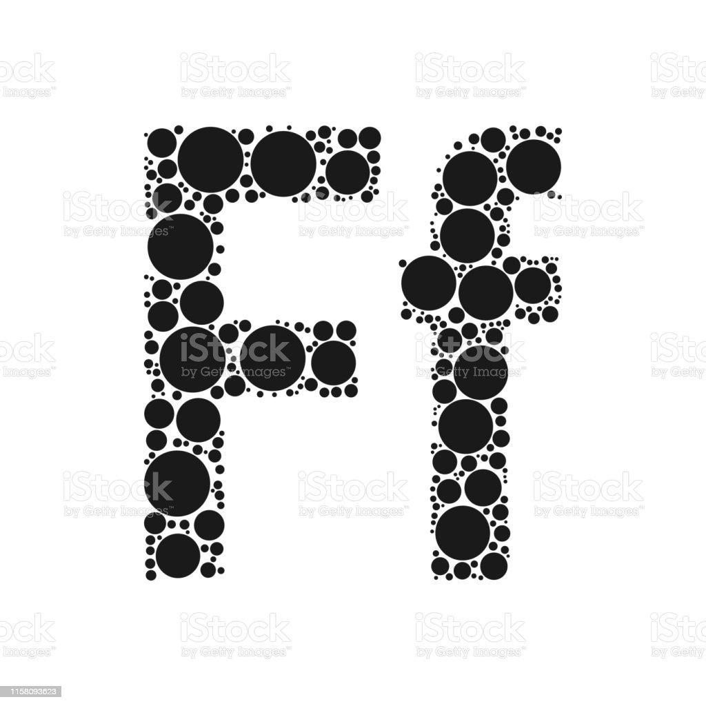 Mozayka Tarafindan Belirtilen Siyah Cevrelerden Alfabenin Bir