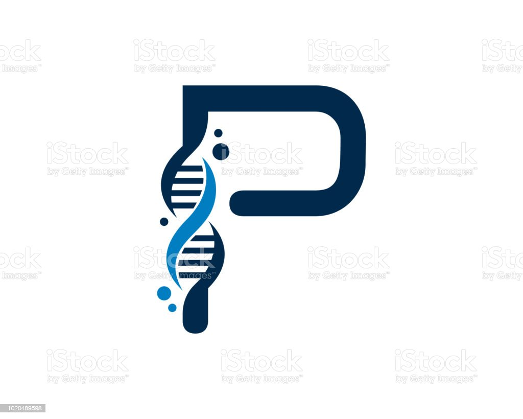 letter p dna design template stock vector art more images of