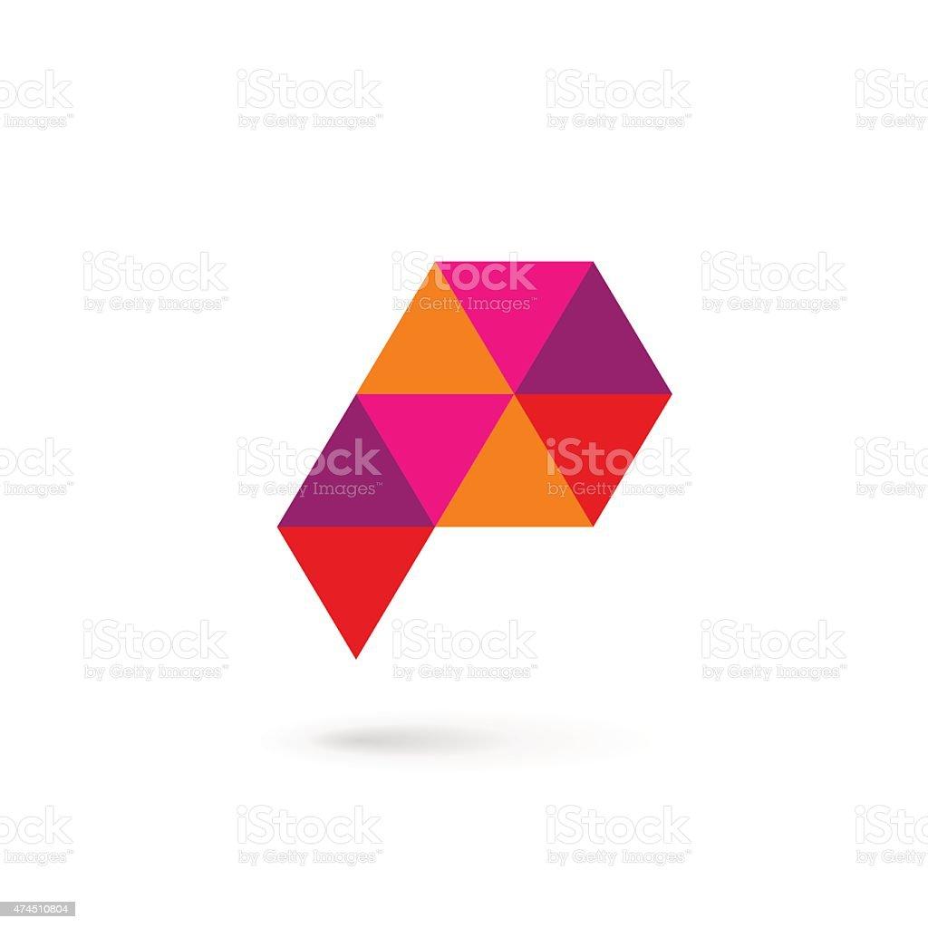 レター p アイコンテンプレートデザイン要素 のイラスト素材 474510804