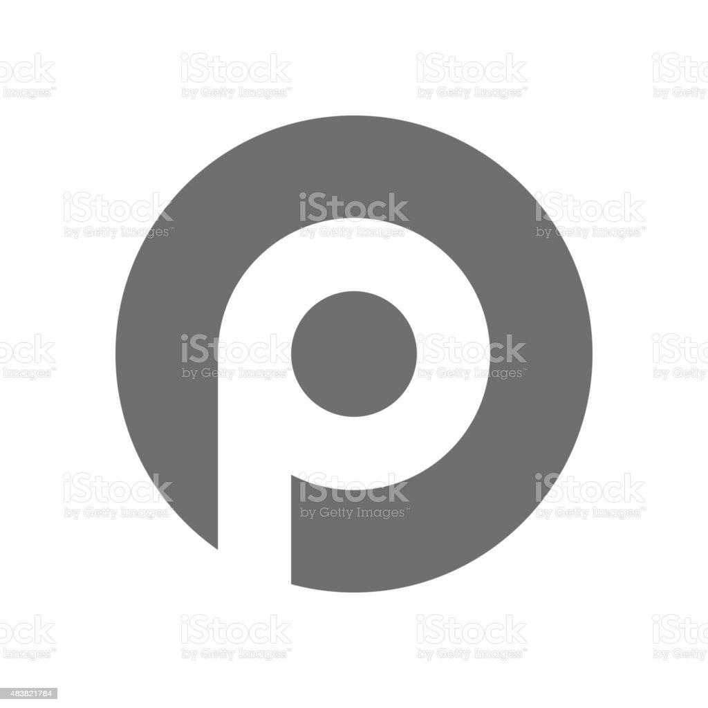 Letter P Logo Concept Icon. Vector vector art illustration