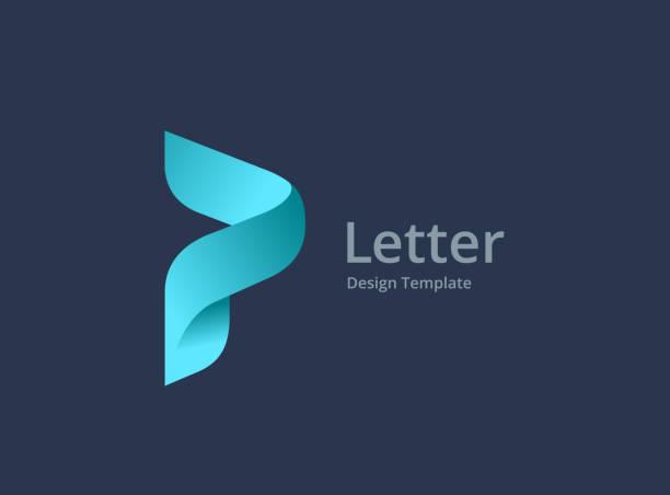 stockillustraties, clipart, cartoons en iconen met letter p logo icon design - letter p