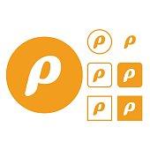Letter P, Futuristic, Logo, Abstract, Alphabet