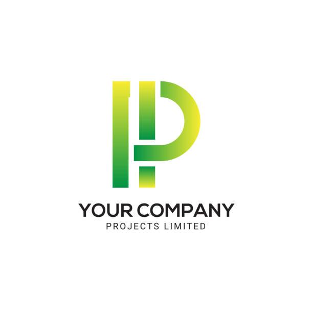 stockillustraties, clipart, cartoons en iconen met letter p, moderne p, creatieve p, abstracte p brief logo ontwerpsjabloon - letter p