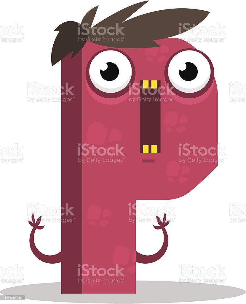 Letter P monster. Vector illustration. royalty-free letter p monster vector illustration stock vector art & more images of alphabet