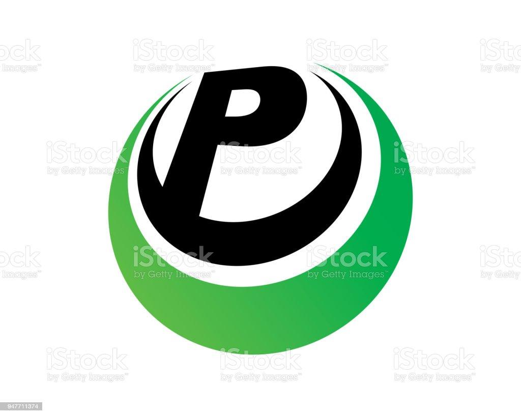 letter p template design vector emblem design concept creative symbol icon royalty