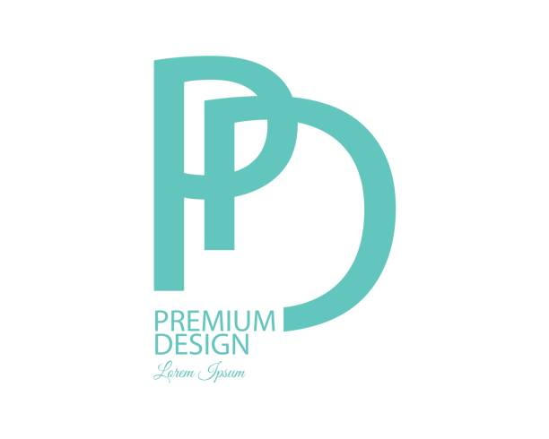 Letter PD Concept Design Vector Art Illustration