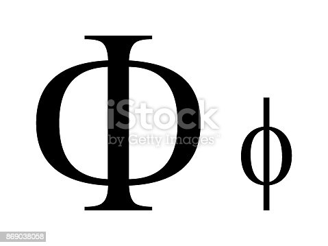 Letter Phi Stock Vector Art More Images Of Alpha Cell 869038058