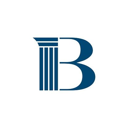 B Letter Pillar Logo for Lawyer Firm Illustration Design. Vector EPS 10.