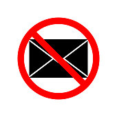 letter prohibited icon. Element of ptohibited sign for mobile concept and web apps. Sign of letter prohibited icon can be used for web and mobile