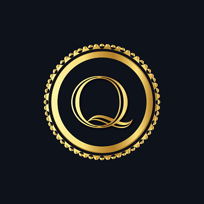 letter Q abstract round creative symbol