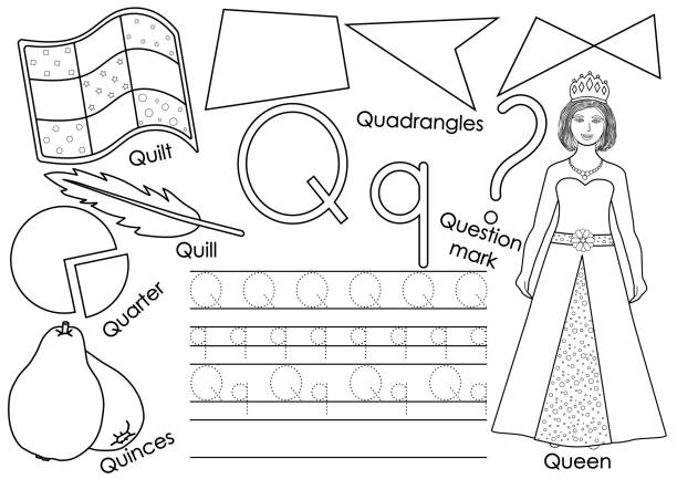 Royalty Free Silhouette Of English Lesson Clip Art, Vector