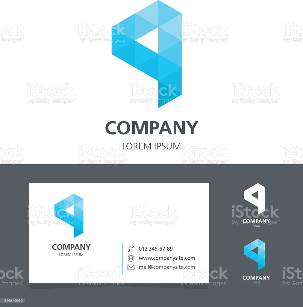 Letter Q - Logo Design Element with Business Card - illustration royalty-free letter q logo design element with business card illustration stock vector art & more images of abstract