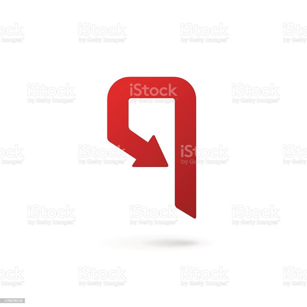 Letra P Número 9 Iconos De Elementos De Diseño De Plantillas - Arte ...