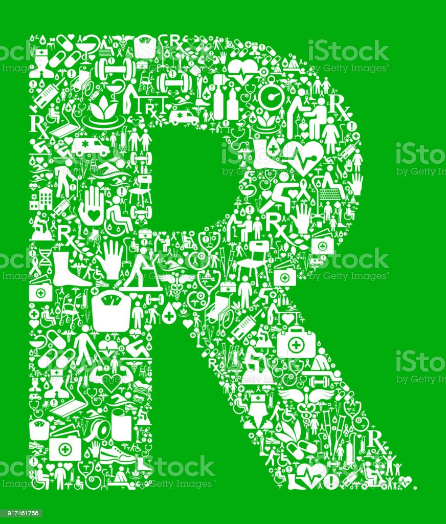 Green Letter R