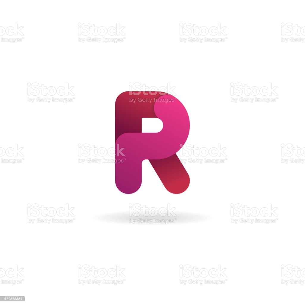 Letter R icon. Vector icon design template. Color sign. vector art illustration