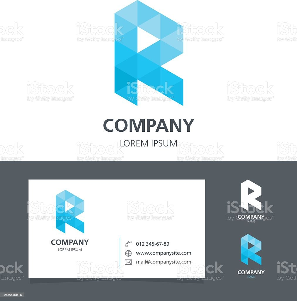 Ilustrao de letter r logo design element with business card letter r logo design element with business card illustration ilustrao de letter r logo reheart Image collections