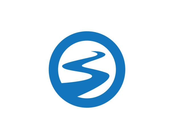 s buchstabe fluss logo vorlage - buchten stock-grafiken, -clipart, -cartoons und -symbole