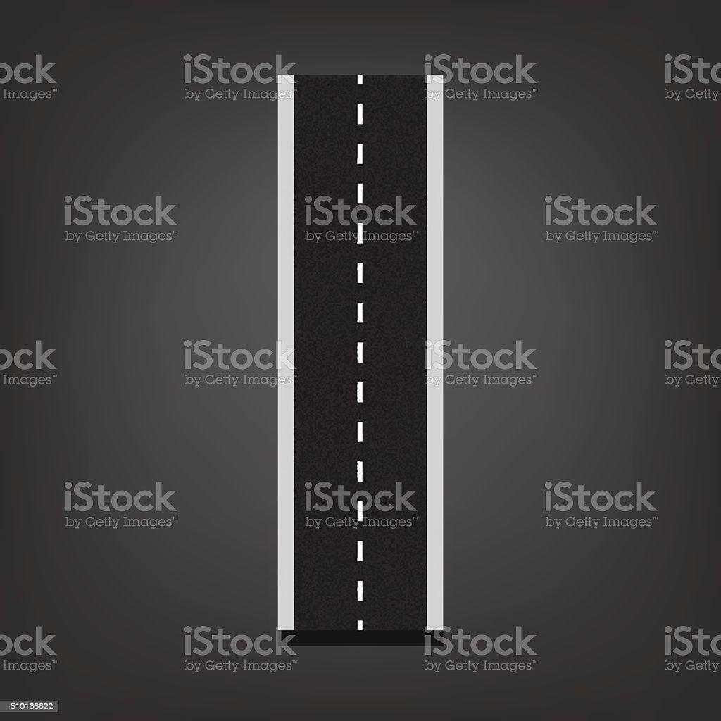 I letter. Road font vector art illustration