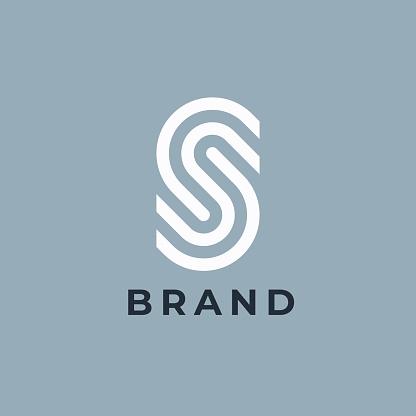 Letter S design template.