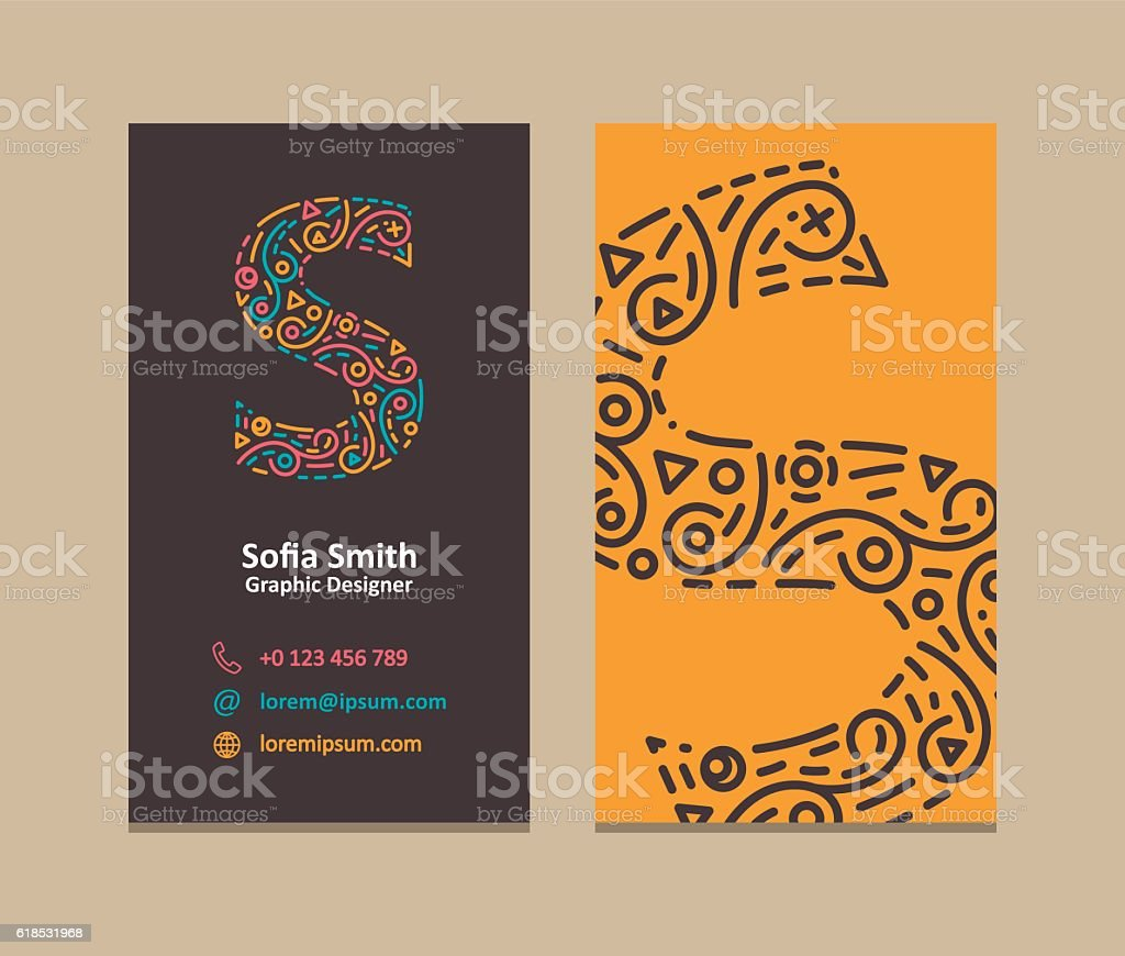 Letter S Logo Business Card Stock Vector Art & More Images of ...