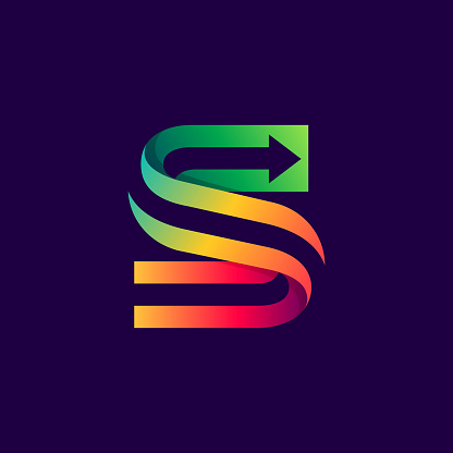 Letter S logo with arrow inside.