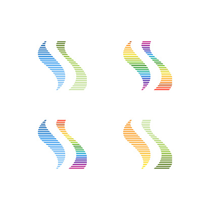 Letter S Spectrum wave logo
