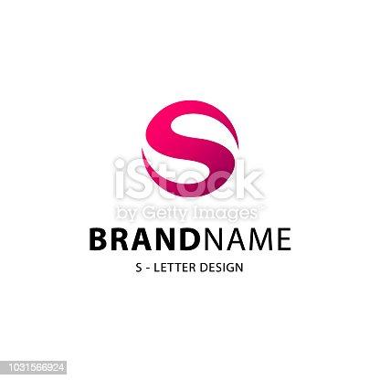 Letter S vector emblem design.