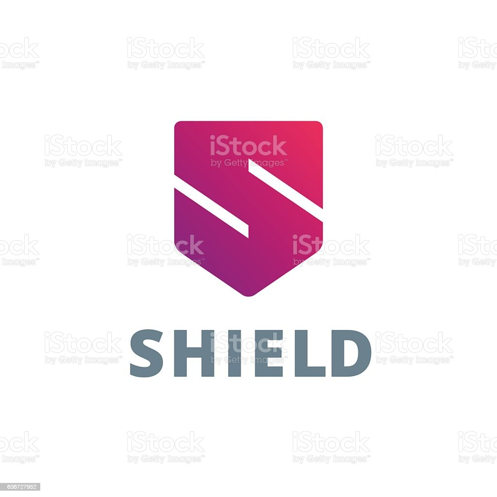Letter S with shield icon - Illustration vectorielle