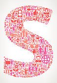 Letter S Women's Rights Vector Icon Pattern