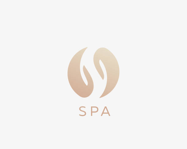 spa, letter s, yin yang, hands logotype. relax massage care vector logo. - massage stock illustrations