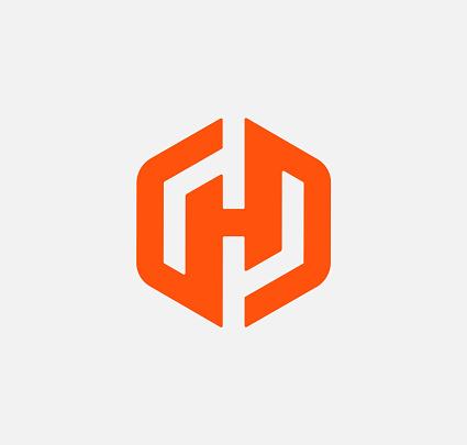 H Letter Shape Logo