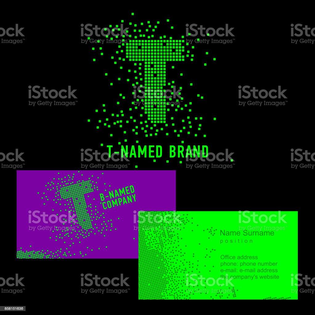 Tbuchstabenzeichen Vorlage T Marke Name Firma Corporate Identity Für ...