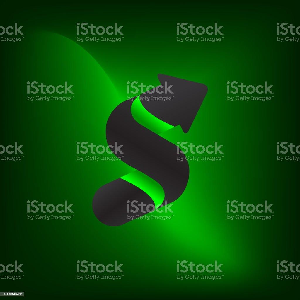 S Letter Symbol. Stock Market or Exchange Finance Symbol. Monogram S...