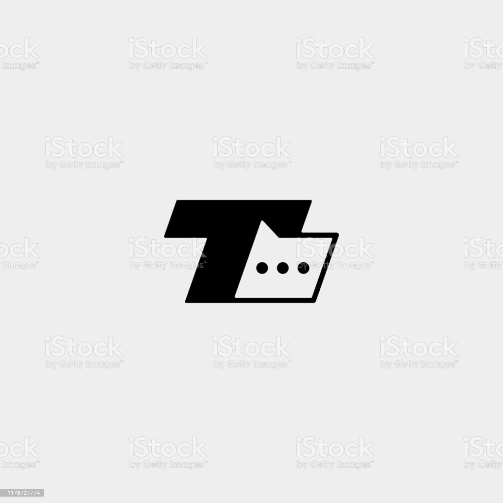 Letter T Chat Bubble Icon Vector Design Message Stock Illustration Download Image Now Istock