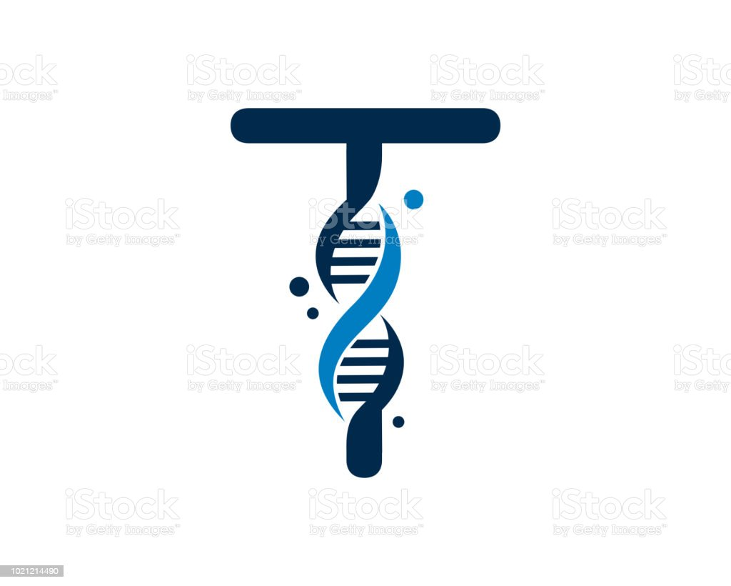 letter t dna design template royalty free letter t dna design template stock vector art