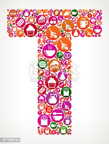 letter t food and diet vector icon background stock vector art