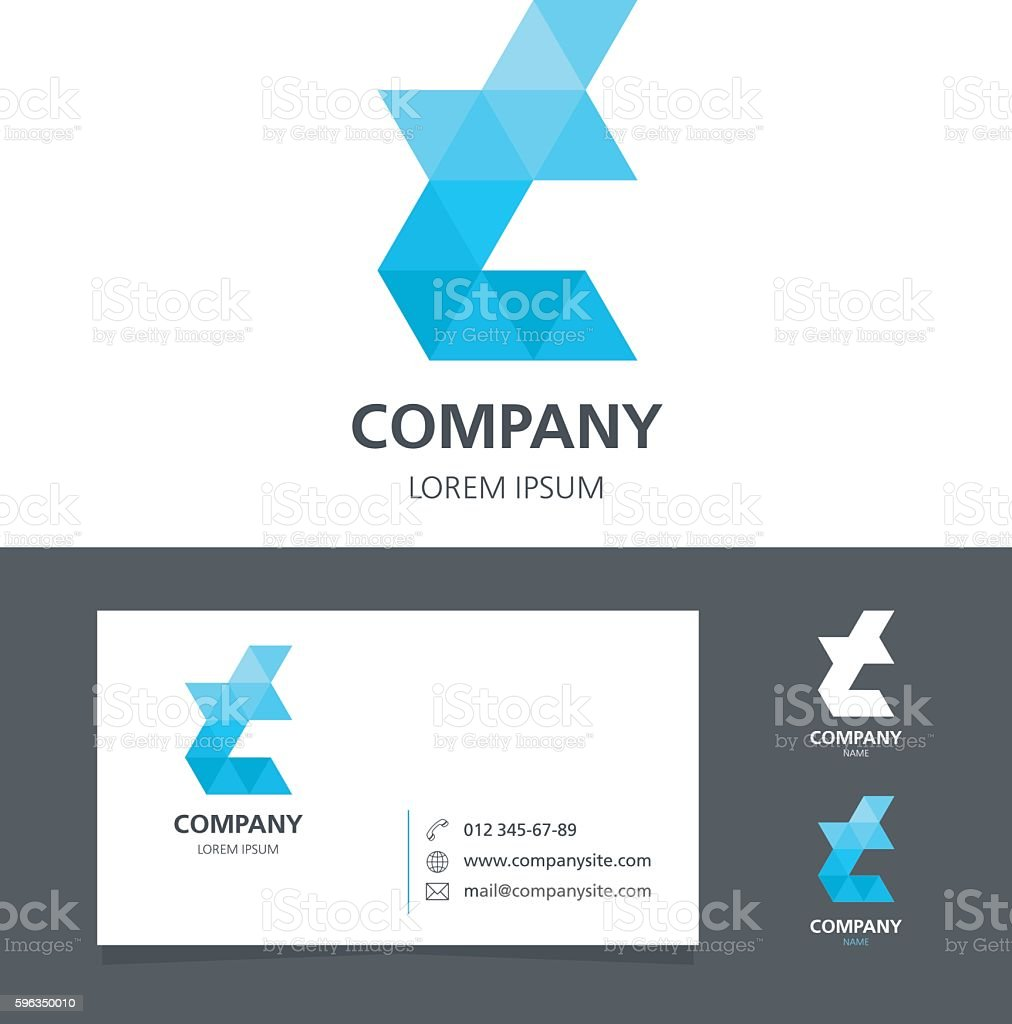 Letter T - Logo Design Element with Business Card - illustration royalty-free letter t logo design element with business card illustration stock vector art & more images of abstract