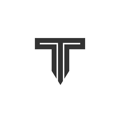 Letter T Logo Lettermark Monogram - Typeface Type Emblem Character Trademark